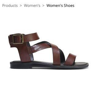 Franco Sarto Brown Leather Gwenyth Sandal
